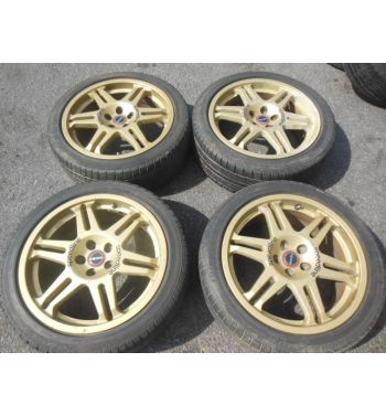 Subaru Wrx Sti Speedline Wheels 17x7jj +48 Rims Gold