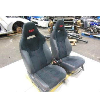 JDM SUBARU WRX STI SEATS BLACK STI SEATS OEM SEATS 2008+ STI SEAT RED STITCHES
