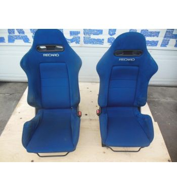 JDM Rsx Type R Recaro Front Seats, Rails, Bracket, Seats DC5 Recaro Blue Seats