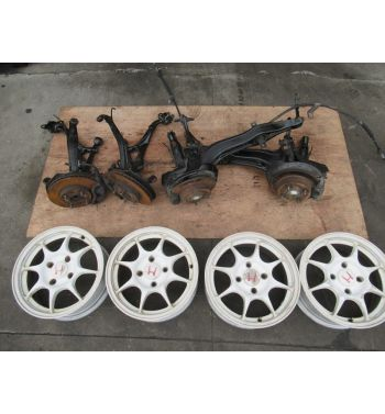 Honda Acura Integra DC2 4 Lug Disk Conversion + Type R Rims
