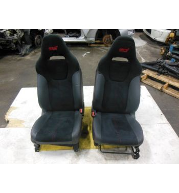 JDM SUBARU WRX STI SEATS BLACK OEM 2008 RED STITCHES