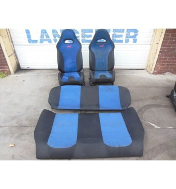 2001 2006 Subaru WRX STi Blue Seats Version 8 Front and Back GDB
