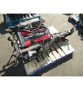 JDM Nissan 180SX CA18DET Engine 5 Speed Transmission Tomei Ecu,