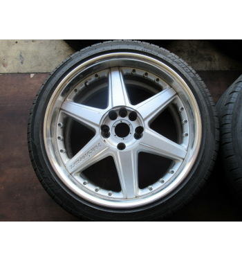 Racing Hart 18x8J +40 235/40/18 ,18X9.5J +38 235/40/18 Federal Super Street Tire   Check picture for the item condition