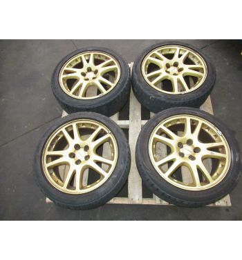 JDM 02 07 SUBARU WRX STi 5X100 Wheels Rims 17x7.5 +53 & WINTER