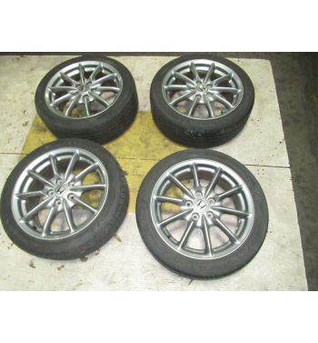 JDM OEM Honda Enkei 17x7 +55 5x114.3 Rims Charcoal Grey Wheels
