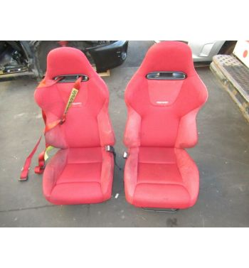 JDM Honda Civic Type R EP3 Recaro Front Seats Rails 2001-2005