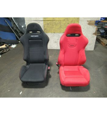 Honda Civic EP3 Type-R Genuine SR5 Red & Black Recaro Seats on Juran Rails