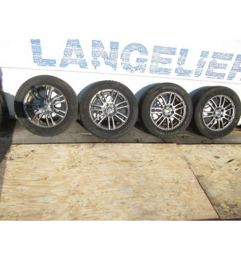 Weds Velva 16x6.5jj +47 5x114.3 Wheels with Hankook Winter Tires