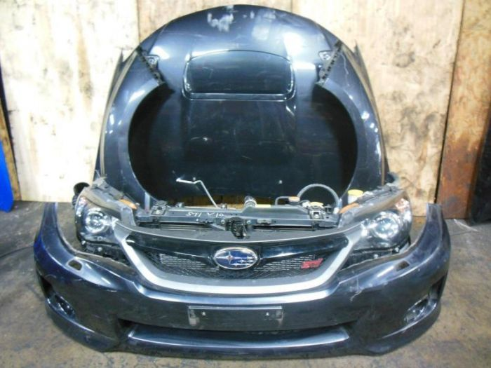 2008 impreza wrx sti grb front end conversion bumper light